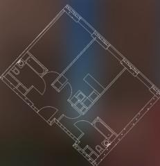 МФК «Пресня Сити», планировка 2-комнатной квартиры, 72.00 м²
