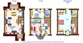 МЖК «Кембридж», планировка 5-комнатной квартиры, 130.00 м²