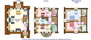 МЖК «Кембридж», планировка 5-комнатной квартиры, 150.00 м²