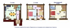МЖК «Кембридж», планировка 5-комнатной квартиры, 65.00 м²