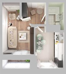 ЖК «Новое Жегалово», планировка 1-комнатной квартиры, 49.40 м²