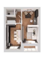 ЖК «Новое Жегалово», планировка 3-комнатной квартиры, 110.00 м²
