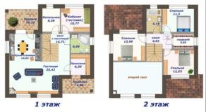 КП «Пушкинский лес», планировка 5-комнатной квартиры, 152.00 м²