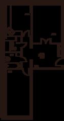 ЖК «Дом на Баковке», планировка 2-комнатной квартиры, 70.33 м²
