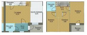 МЖК «Пятница парк», планировка 3-комнатной квартиры, 130.00 м²