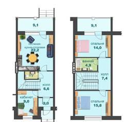 МЖК «Спорт-Таун», планировка 3-комнатной квартиры, 125.00 м²