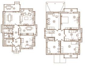 КП «Юсупово Лайф Парк», планировка 5-комнатной квартиры, 216.00 м²