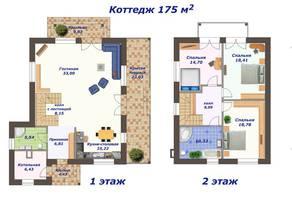 КП «Тишково озеро», планировка 5-комнатной квартиры, 152.00 м²