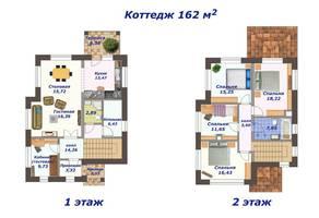 КП «Тишково озеро», планировка 5-комнатной квартиры, 162.00 м²