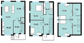 МЖК «Середниково Парк», планировка 5-комнатной квартиры, 150.00 м²