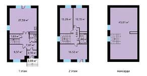 МЖК «Александрия Таун», планировка 5-комнатной квартиры, 144.65 м²