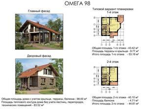 МЖК «Палитра» (Мелечкино), планировка 4-комнатной квартиры, 98.00 м²