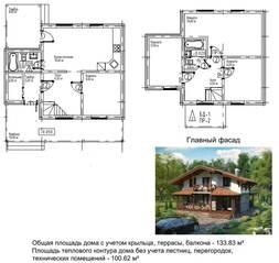 МЖК «Палитра» (Мелечкино), планировка 4-комнатной квартиры, 134.00 м²