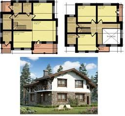 МЖК «Палитра» (Мелечкино), планировка 5-комнатной квартиры, 166.00 м²