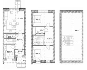 КП «Вудлэнд Таун», планировка 4-комнатной квартиры, 157.40 м²