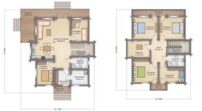 КП «Никольское-Лесное», планировка 5-комнатной квартиры, 250.00 м²
