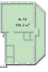 МФК «Яхонтовый лес», планировка 5-комнатной квартиры, 186.20 м²