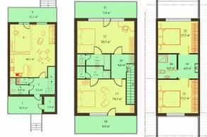 МЖК «Sunny Dale», планировка 5-комнатной квартиры, 163.59 м²