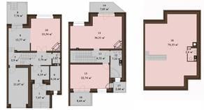 МЖК «Sunny Dale», планировка 5-комнатной квартиры, 239.15 м²