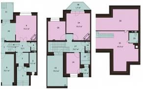 МЖК «Sunny Dale», планировка 5-комнатной квартиры, 225.40 м²