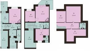 МЖК «Sunny Dale», планировка 5-комнатной квартиры, 248.40 м²