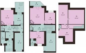 МЖК «Sunny Dale», планировка 5-комнатной квартиры, 230.70 м²