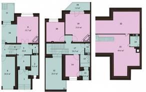 МЖК «Sunny Dale», планировка 5-комнатной квартиры, 229.30 м²