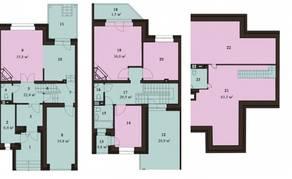 МЖК «Sunny Dale», планировка 5-комнатной квартиры, 235.80 м²