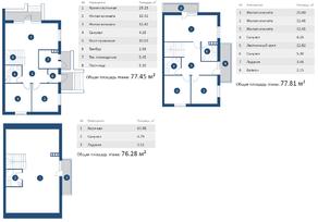 МЖК «Новотроицкий» (Птичное), планировка 5-комнатной квартиры, 231.50 м²