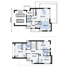 МЖК «Река-река», планировка 5-комнатной квартиры, 238.00 м²