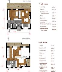 МЖК «Река-река», планировка 5-комнатной квартиры, 144.00 м²