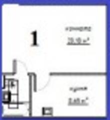 МЖК «Решетниково», планировка студии, 31.83 м²