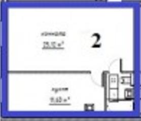 МЖК «Решетниково», планировка 1-комнатной квартиры, 39.75 м²