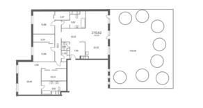 ЖК «NV/9 ARTKVARTAL», планировка 4-комнатной квартиры, 210.62 м²