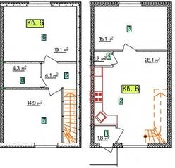 МЖК «Северное сияние», планировка 3-комнатной квартиры, 88.60 м²