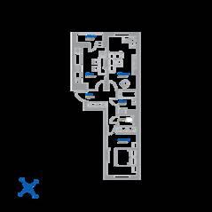 ЖК «Томилино 2018», планировка 2-комнатной квартиры, 55.49 м²