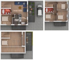 МЖК «Садки-1», планировка 5-комнатной квартиры, 100.00 м²