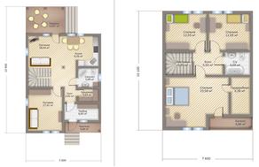 КП «Никольское-Лесное», планировка 5-комнатной квартиры, 164.00 м²