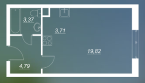 ЖК «Люблинский», планировка студии, 31.78 м²