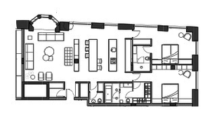 МФК «Roza Rossa», планировка 3-комнатной квартиры, 127.00 м²