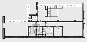 МФК «Roza Rossa», планировка 3-комнатной квартиры, 124.35 м²