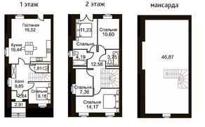 МЖК «Академия Парк», планировка 5-комнатной квартиры, 188.72 м²