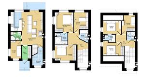 ЖК «Европа-3. Английский квартал», планировка 5-комнатной квартиры, 165.00 м²