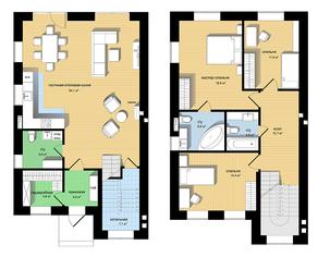 ЖК «Европа-3. Английский квартал», планировка 5-комнатной квартиры, 205.00 м²