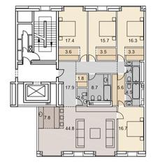 ЖК «Savvin River Residence», планировка 5-комнатной квартиры, 174.30 м²