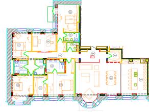 ЖК «Дом на Хлебном», планировка 5-комнатной квартиры, 273.03 м²
