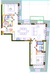 ЖК «Дом на Хлебном», планировка 3-комнатной квартиры, 103.10 м²