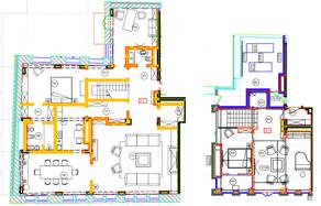 ЖК «Дом на Хлебном», планировка 5-комнатной квартиры, 344.68 м²