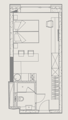 МФК «YE'S Ботанический сад», планировка студии, 26.83 м²