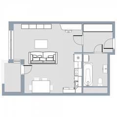 ЖК Квартал «Краски жизни», планировка студии, 34.40 м²